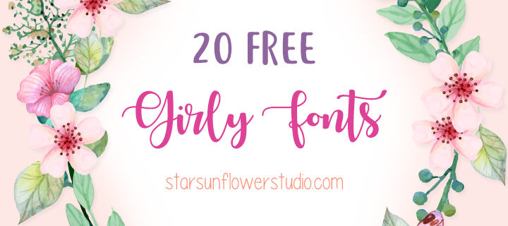 feminine fonts, free fonts, girly fonts, brush script fonts, brush fonts, handwriting fonts, hand drawn fonts