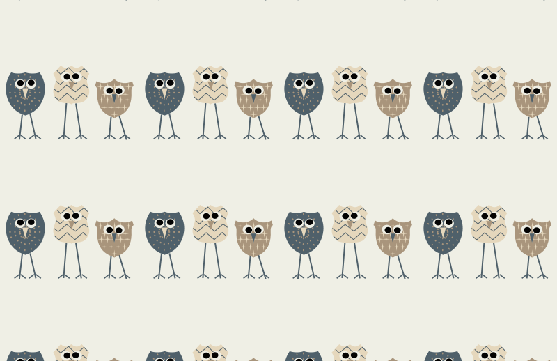 Owl Background Pattern
