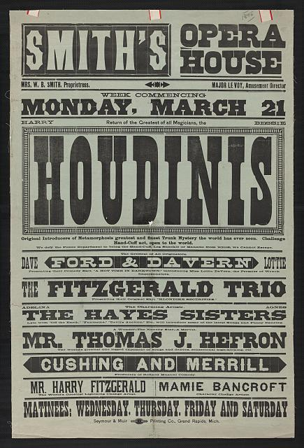 movie losters | vintage harry houdini