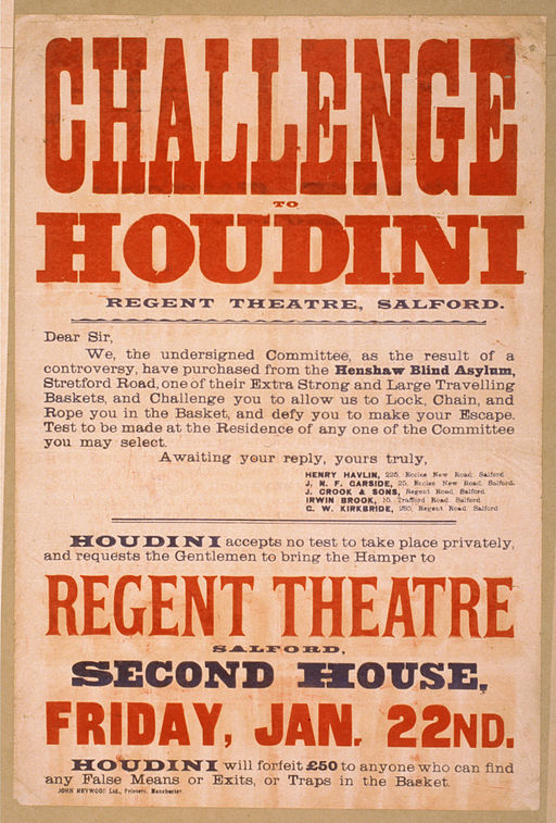 vintage posters | harry houdini