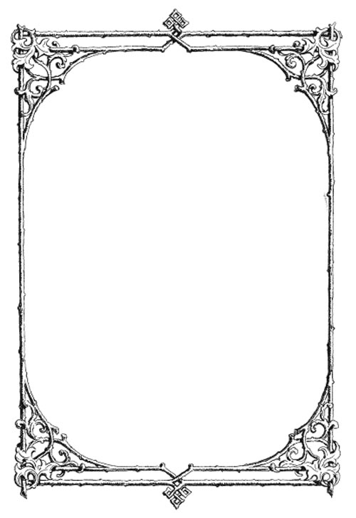 vintage frame floral frame leaf frame decorative frame - Decorative Frames