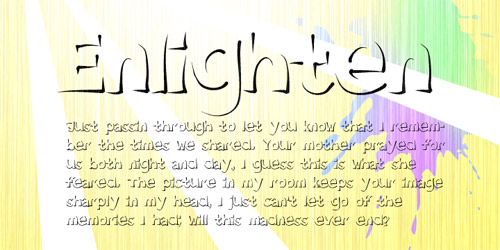 outline font, new font, new fonts, 2011
