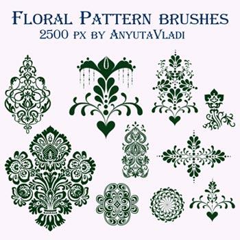 floral brushes, swirl brushes, floral brush, brushes, photo shop brushes, flower brushes, flower brush, brushes download, floral swirl brushes, dutch, pennysilvania dutch, folk art, folk art brushes