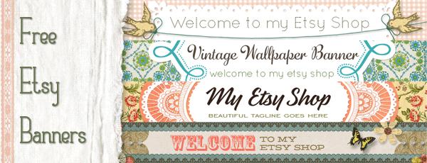 free etsy banners vintage design starsunflower studio blog. Black Bedroom Furniture Sets. Home Design Ideas