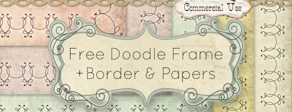 Free CU Doodle Frame, Border Template and Paper Textures
