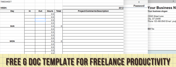 Google Docs Template for Freelance Data Project Management – Time Tracking Template
