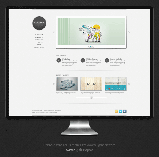 free portfolio website templates - graphic web and ui design freebies of the week no 14