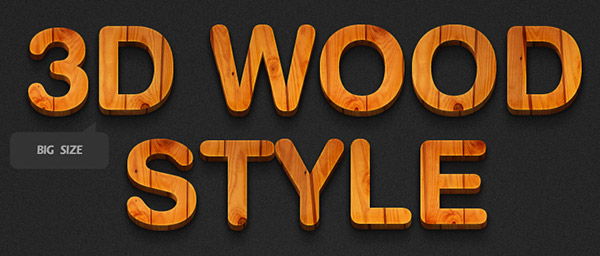 Free Professional Photoshop Styles Text Effect Wood