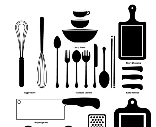 Free Kitchen Vector Set