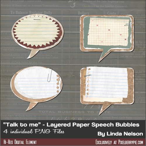 Free Vintage Speech Bubbles PSD