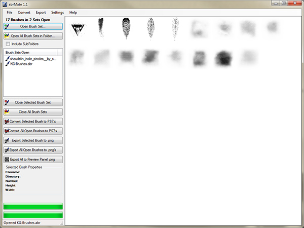 Export Brushes PNG