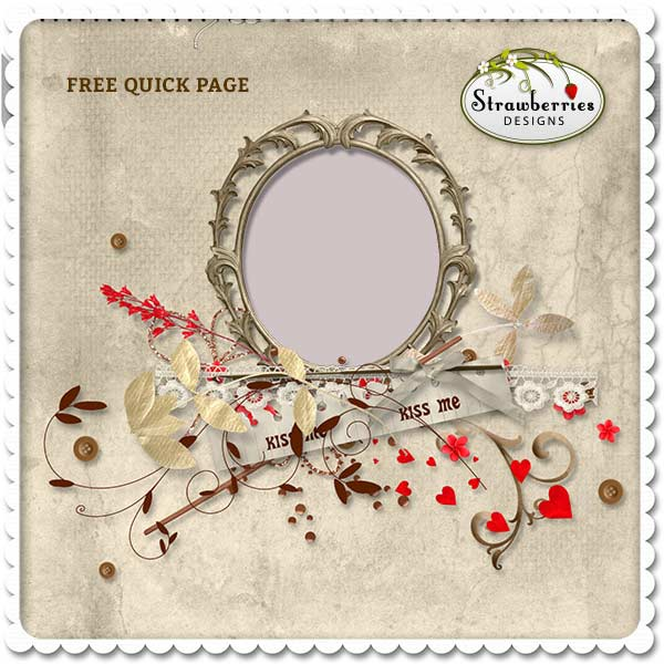 Free Quick Page for Digital Scrapbooking