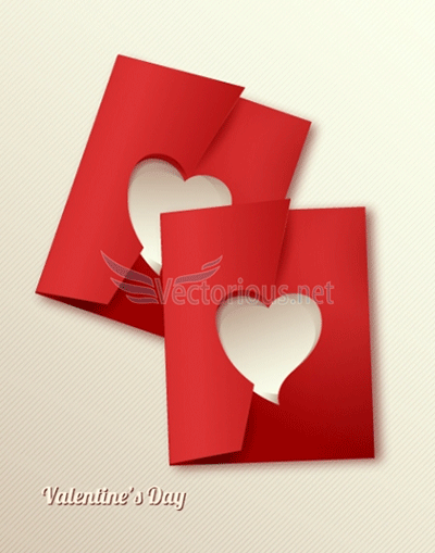 free valentine heart card vector