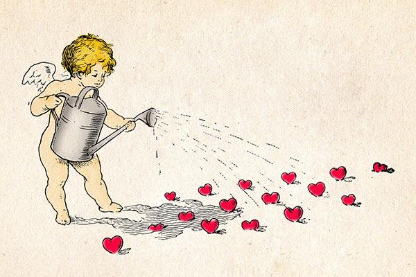 Free Vintage Cupid Valentine Image