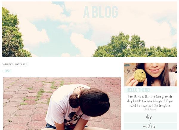cute blogger templates