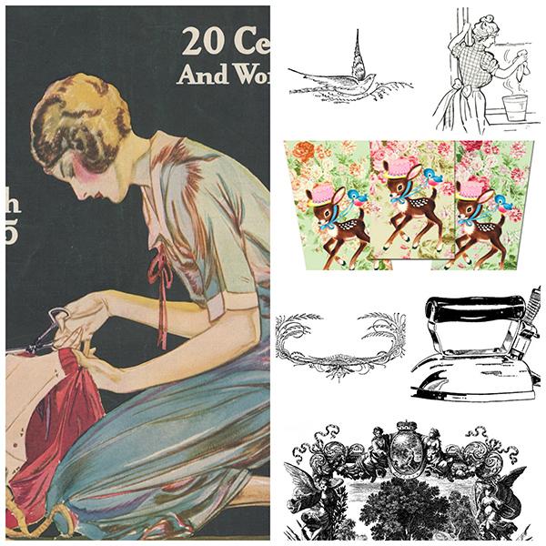 vintage clipart, vintage ephemera, vintage graphics