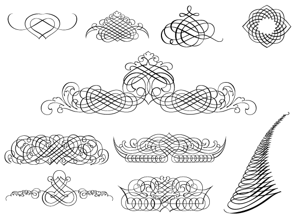 A useful roundup of free calligraphy vectors
