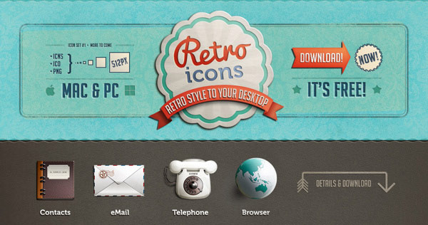 free retro icons