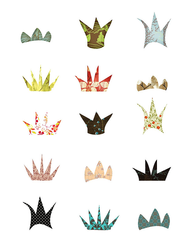 free crowns, fairy crowns digital collage, digital collage, digital scrapbooking, scrapbooking digital, free collage sheet download