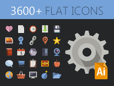 free icons, flat design, free flat icons vector