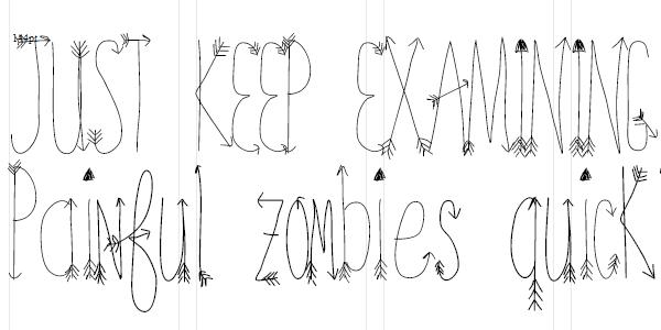 free arrows font, free fonts, cute fonts