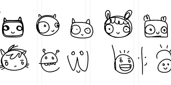free dingbat font, cute fonts, faces font, cartoon font