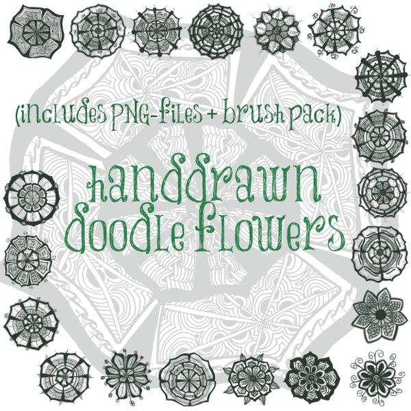mandala brushes, flowers brushes, doodle brushes