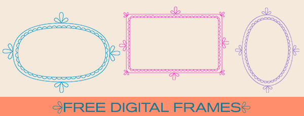 Free Clip Art & Brushes – Digital Frames with Scalloped Borders ...