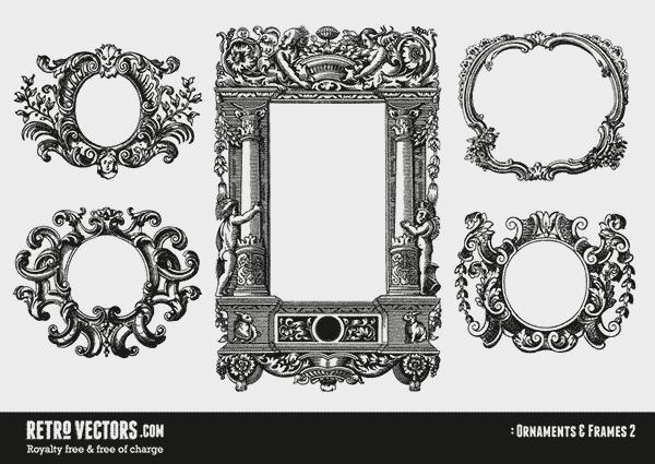 frame, frames, ornaments, borders, flourish, oval, frame, vintage, free, clip art, clipart