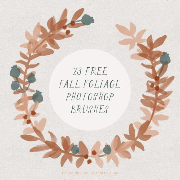 free brushes, photoshop, wreath, berries, cute brushes, foliage brushes,