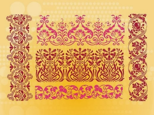 vintage border, floral border, leaf border, decorative border,