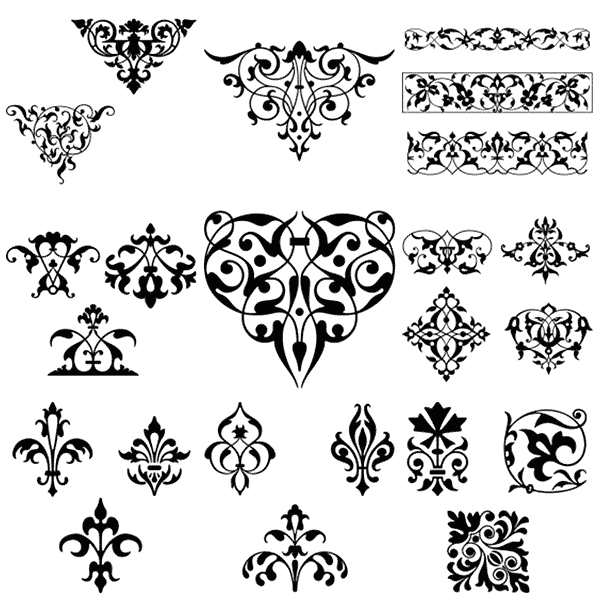 vintage borders, borders, frames, ornaments, free, clipart, clip art, damask