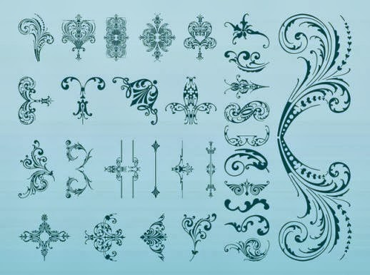 damask, flourish, clipart, clip art, decorative