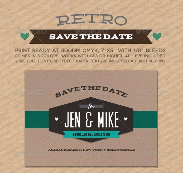 Free Retro Wedding Invitation Vector, free vector, free vectors, vector art, vector invitation
