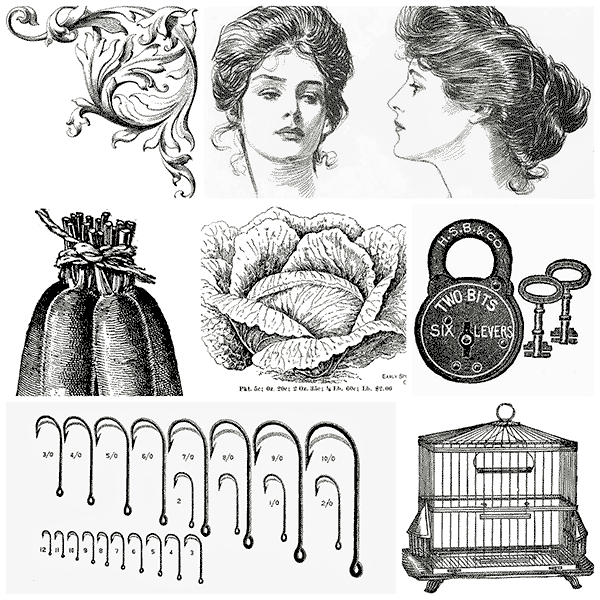 black & white illustrations, black & white clip art, free clip art, free vintage clip art,