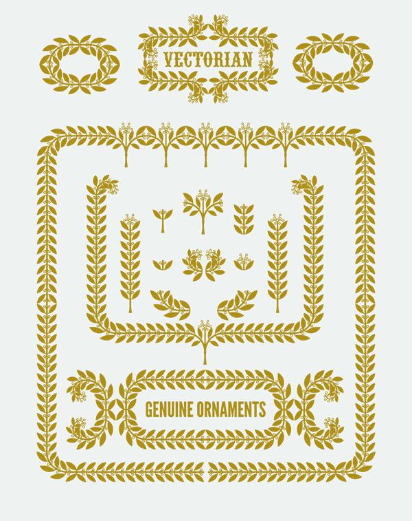 stock vector, free, borders, vintage borders, leaf borders