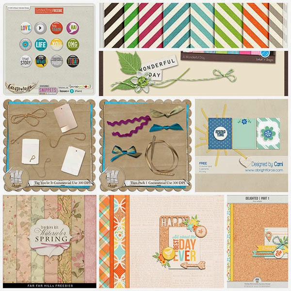 free digital scrapbooking kits, free digital papers, free digital elements,