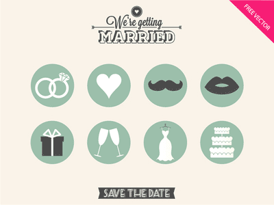 wedding icons, wedding clip art, wedding blog buttons