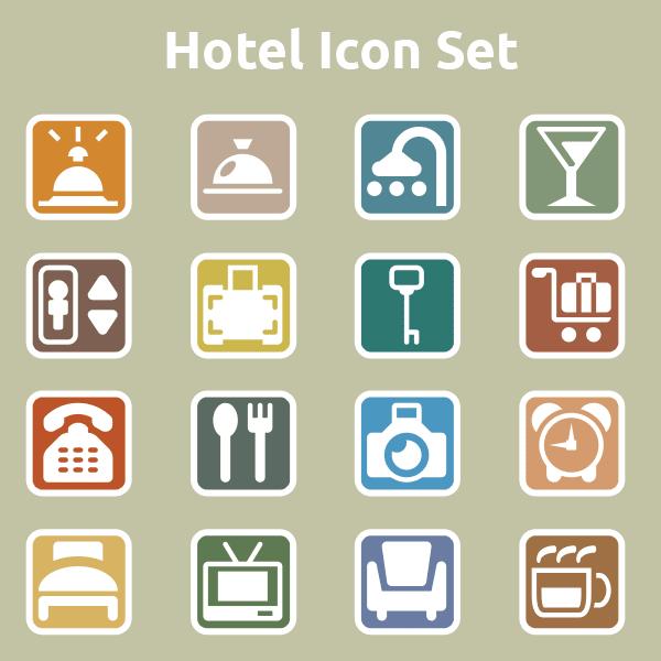 free icons, hotel icons, restaurant icons