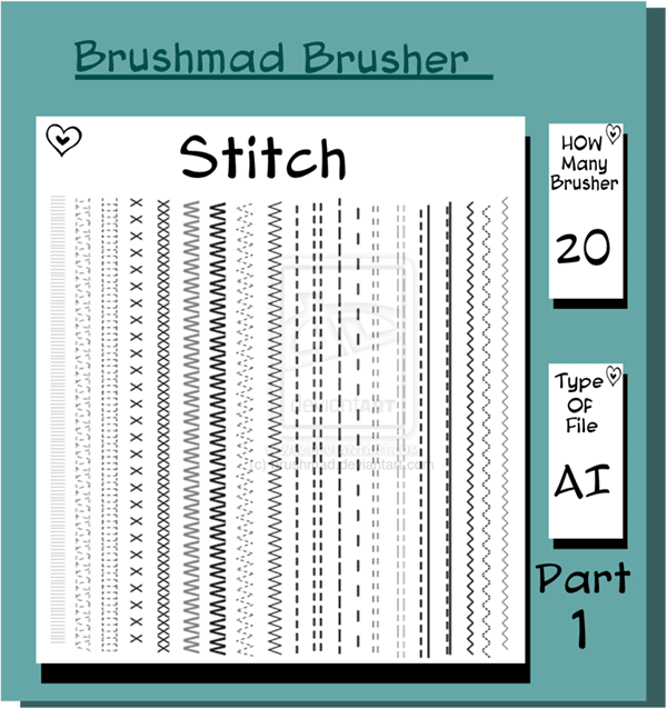 illustrator brushes, stitches brushes, illustrator stitches