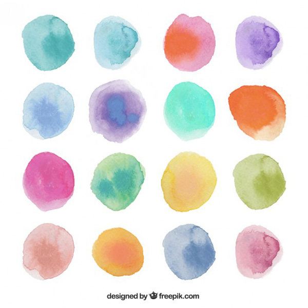 Vector Art Work - Watercolor Dots