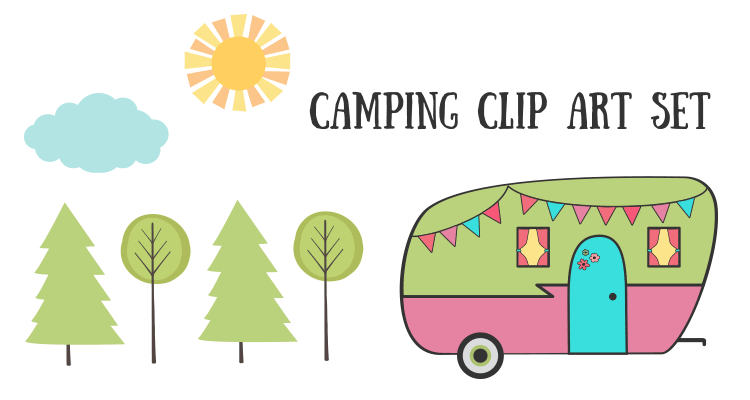 Royalty Free Images – Camping Clip Art Set | Starsunflower Studio ...