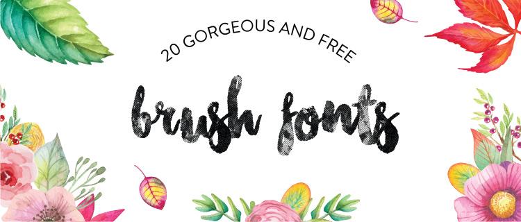 Gorgeous and free brush fonts starsunflower studio