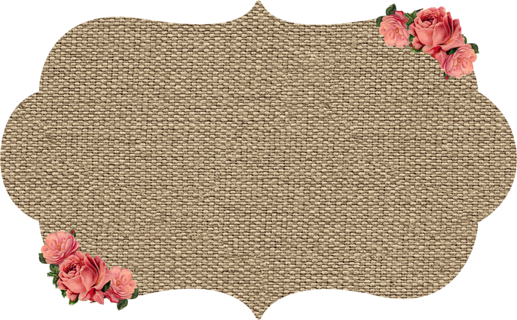 Burlap & Kraft Shabby Frames Clip art with Roses - Digital Design - Graphic Design