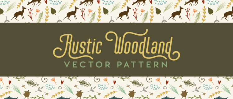 Rustic Woodland Vector Pattern