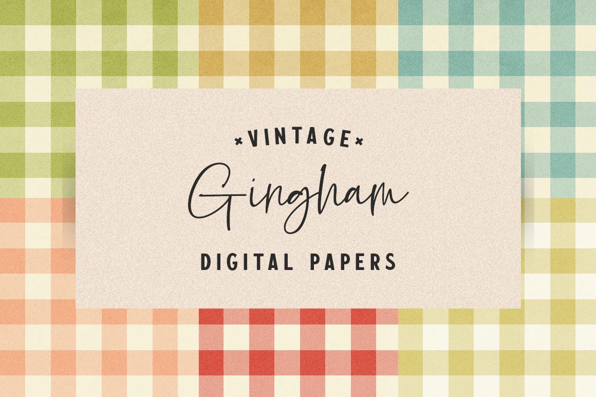 Free Vintage Gingham Plaid Digital Papers